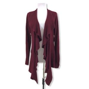 Karen Scott Cardigan Sweater Ruffle Collar L/S